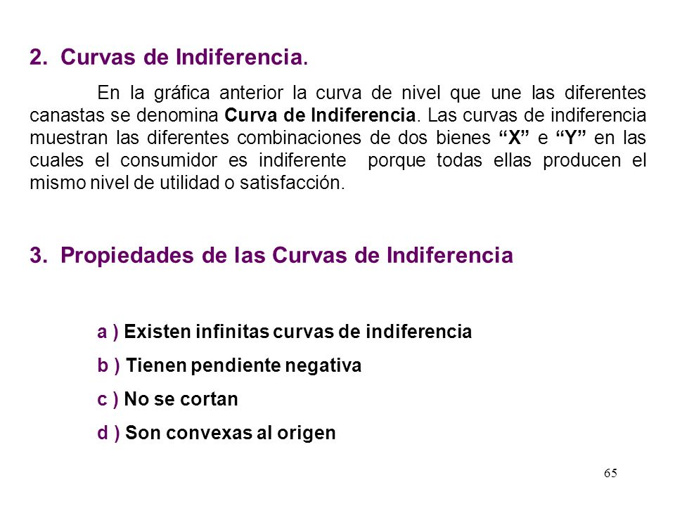 2. Curvas de Indiferencia.