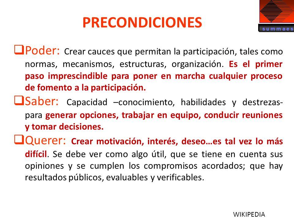 PRECONDICIONES