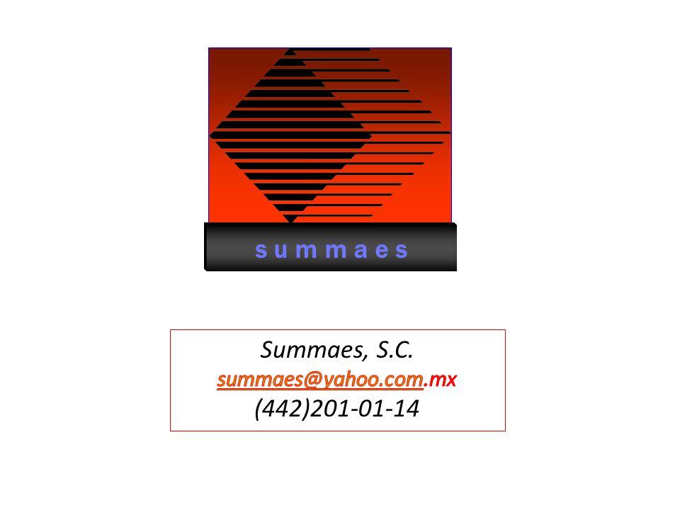 s u m m a e s Summaes, S.C. summaes@yahoo.com.mx (442)201-01-14