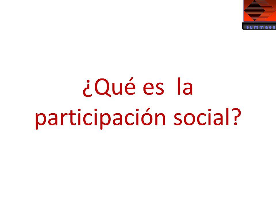 ¿Qué es la participación social