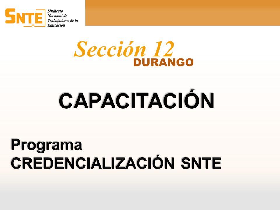 CAPACITACIÓN Programa CREDENCIALIZACIÓN SNTE