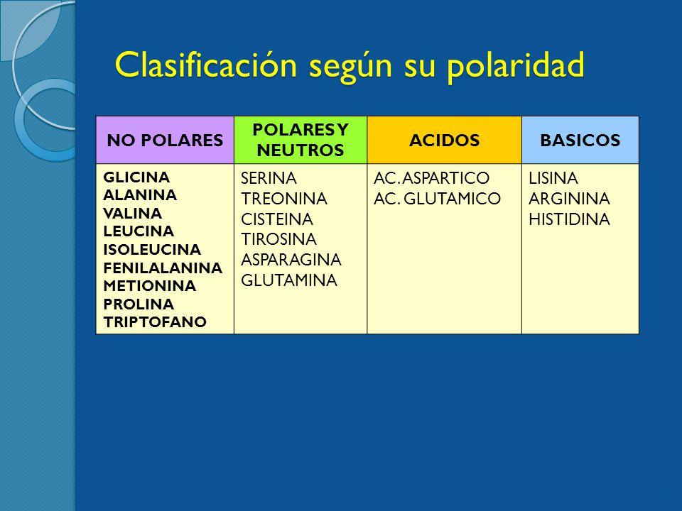 Clasificación según su polaridad