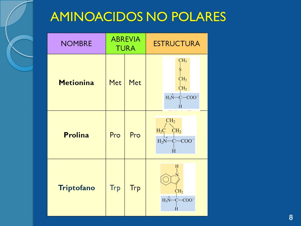 AMINOACIDOS NO POLARES
