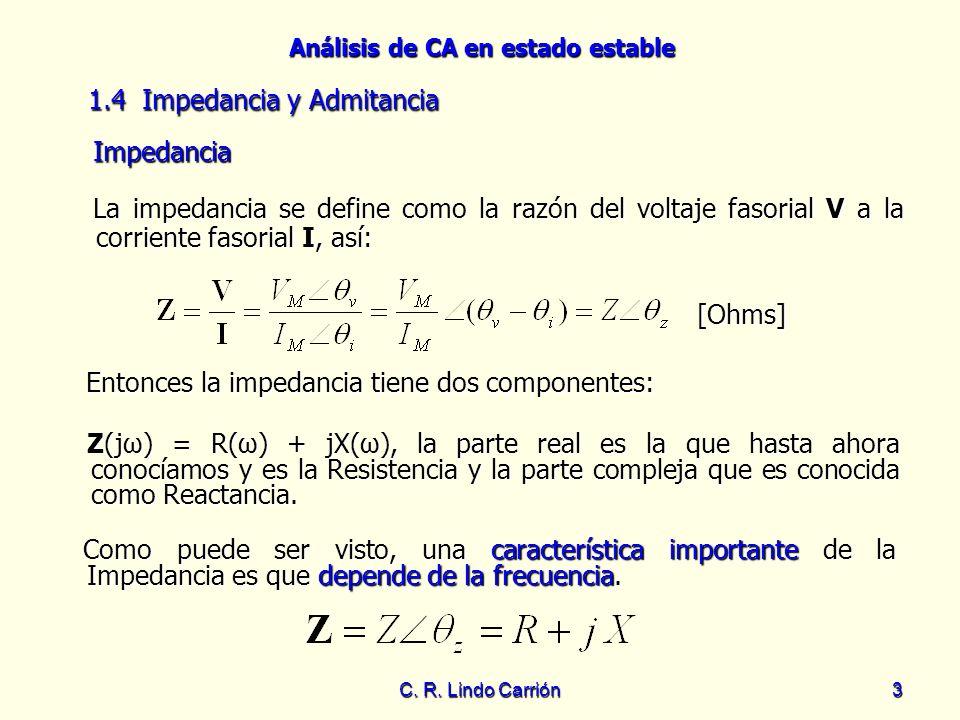 1.4 Impedancia y Admitancia