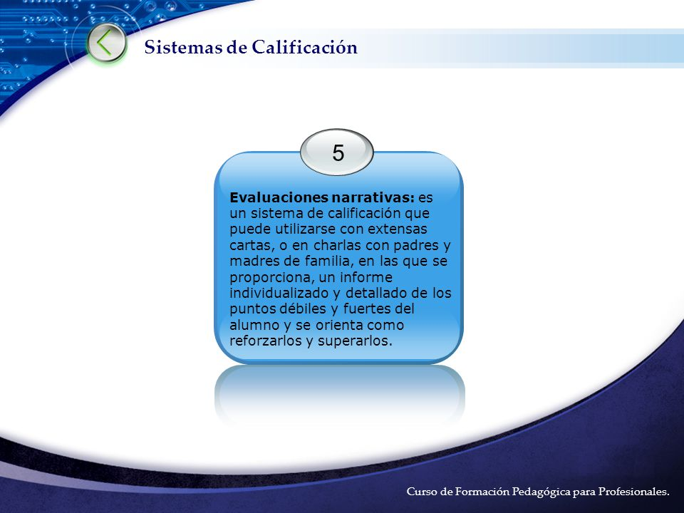 Sistemas de Calificación