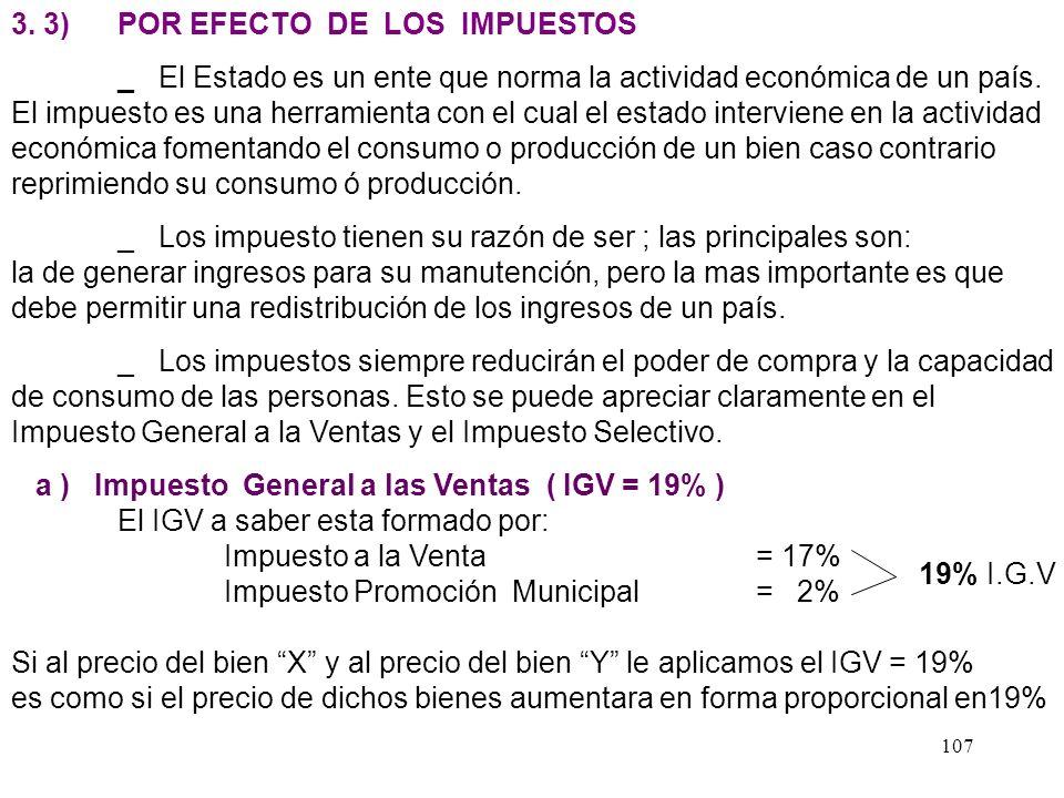 3. 3) POR EFECTO DE LOS IMPUESTOS