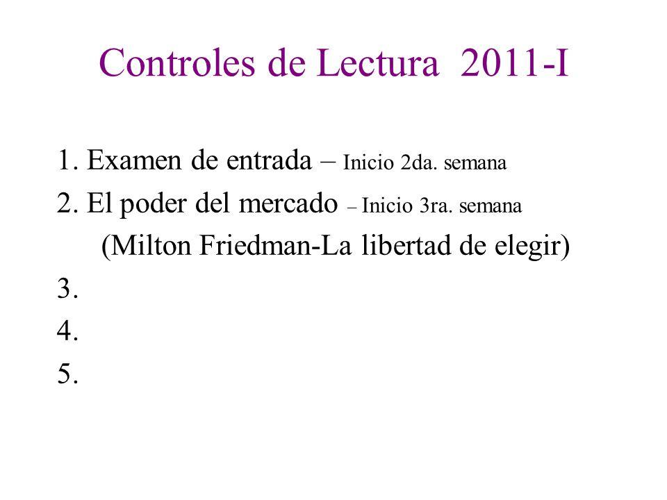 Controles de Lectura 2011-I