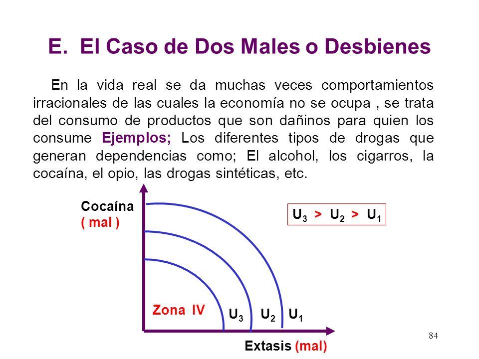 E. El Caso de Dos Males o Desbienes