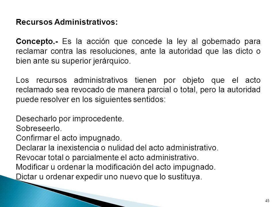 Recursos Administrativos: