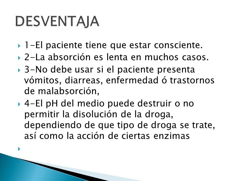 DESVENTAJA 1-El paciente tiene que estar consciente.