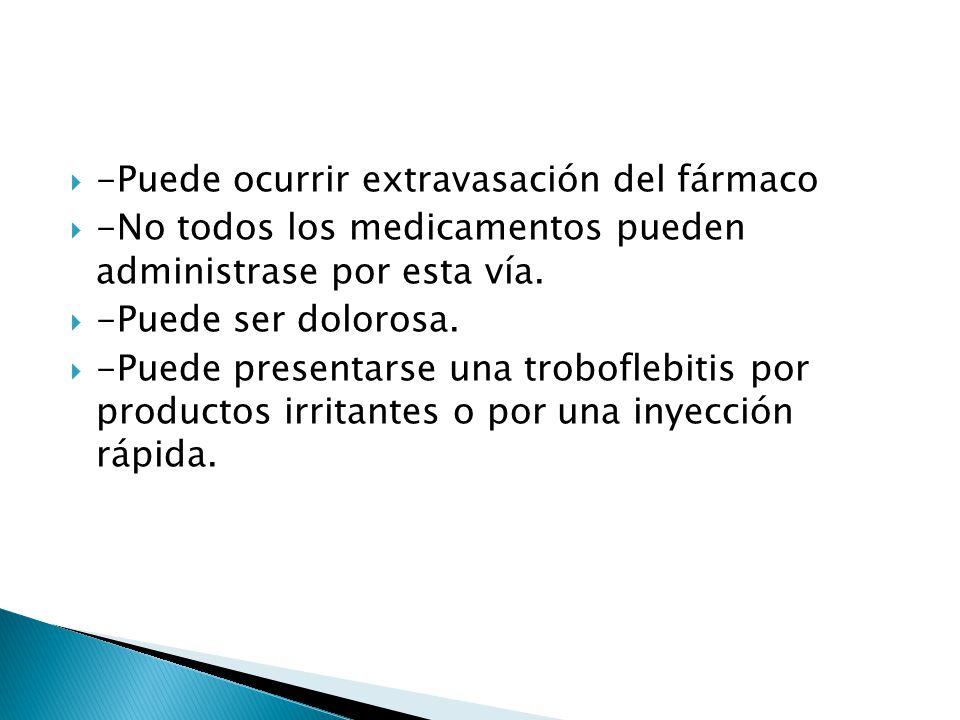 -Puede ocurrir extravasación del fármaco