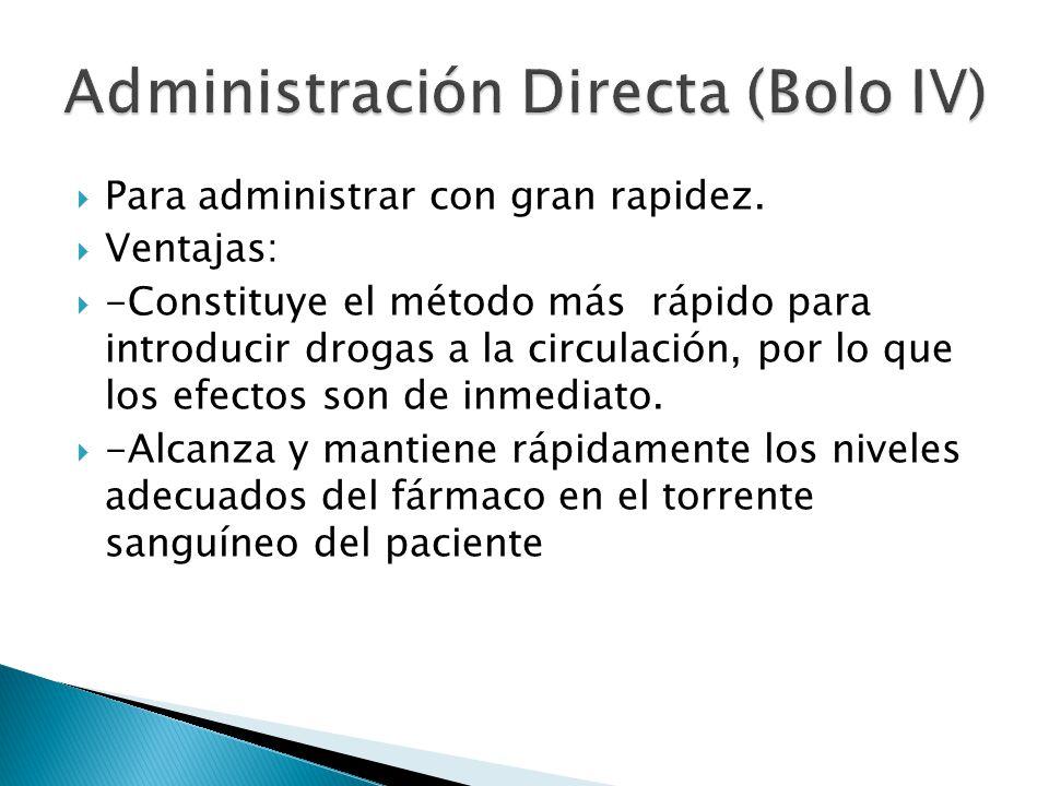 Administración Directa (Bolo IV)
