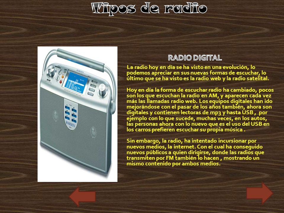 Tipos de radio RADIO DIGITAL