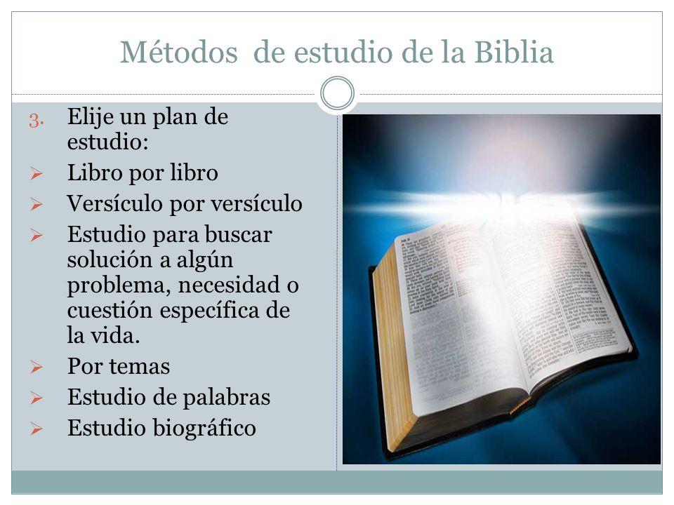 Métodos de estudio de la Biblia