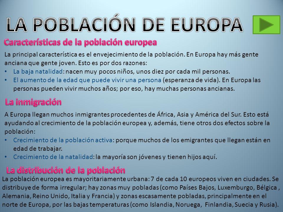 LA POBLACIÓN DE EUROPA Características de la población europea
