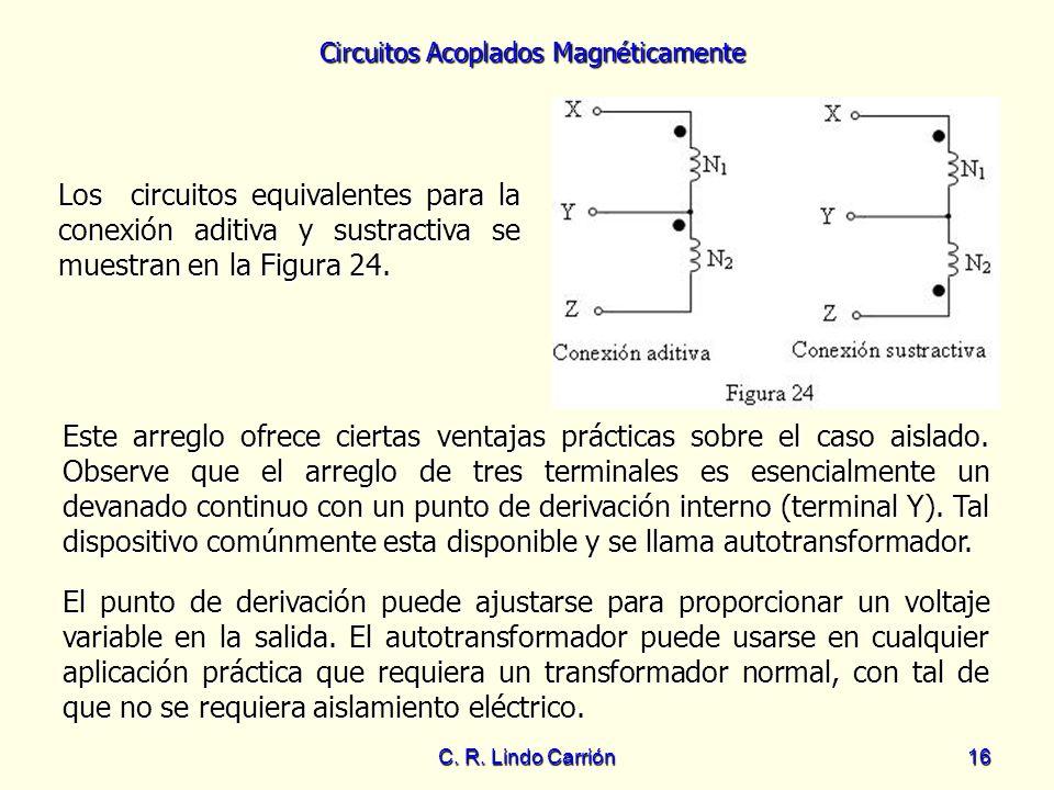 Los circuitos equivalentes para la conexión aditiva y sustractiva se muestran en la Figura 24.