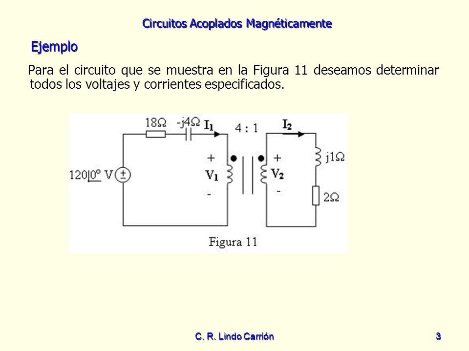 EjemploPara el circuito que se muestra en la Figura 11 deseamos determinar todos los voltajes y corrientes especificados.