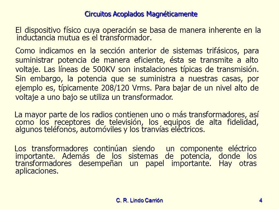 El dispositivo físico cuya operación se basa de manera inherente en la inductancia mutua es el transformador.