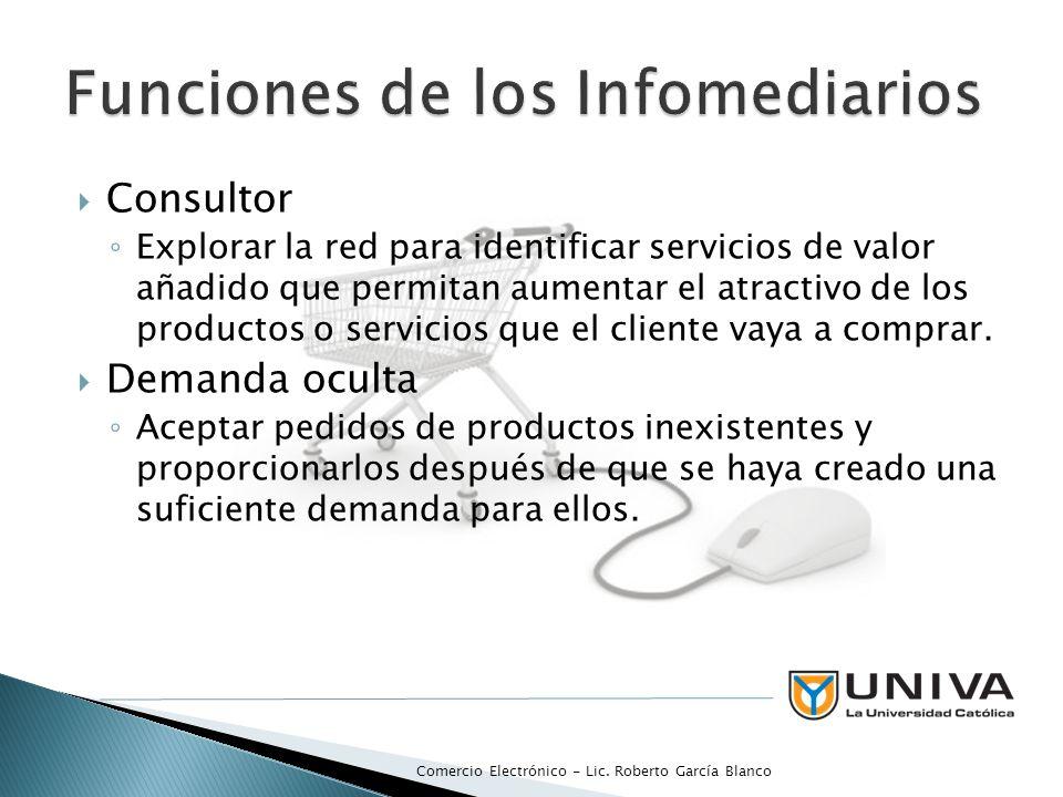 Funciones de los Infomediarios