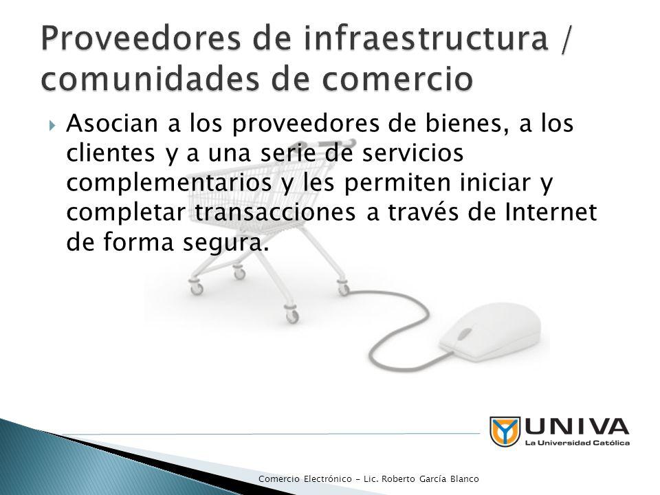 Proveedores de infraestructura / comunidades de comercio