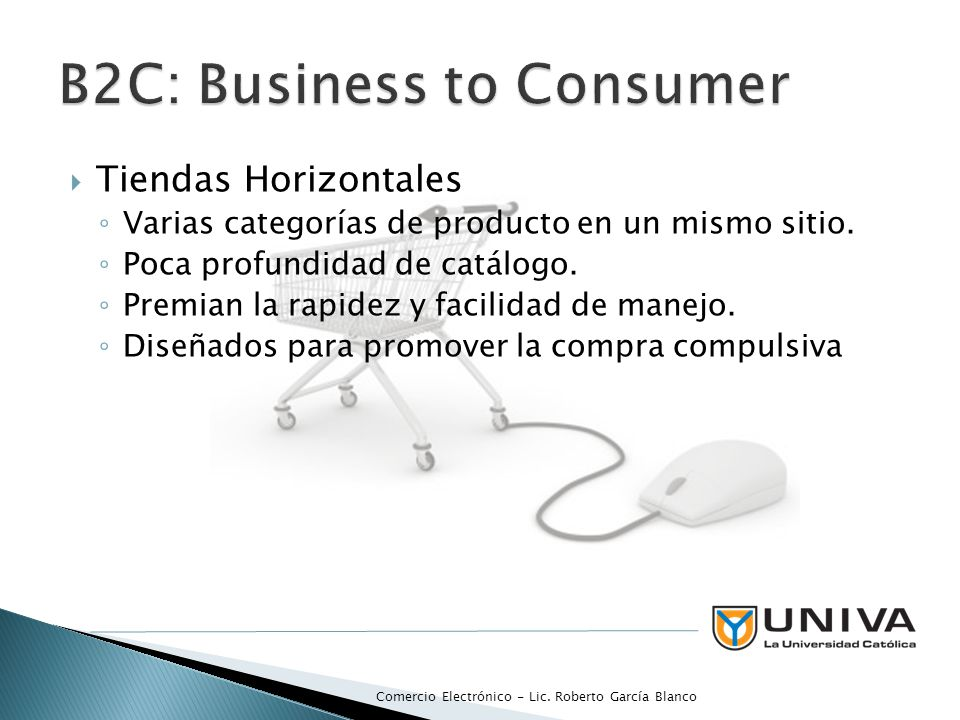 B2C: Business to Consumer