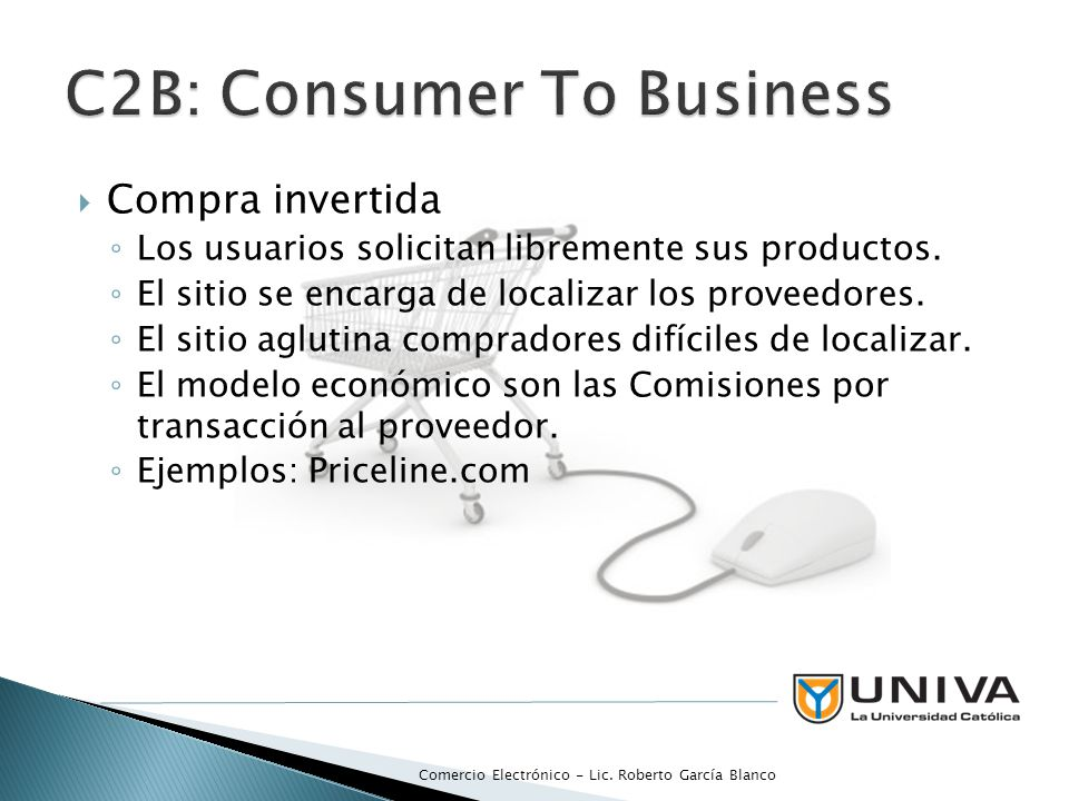 C2B: Consumer To Business