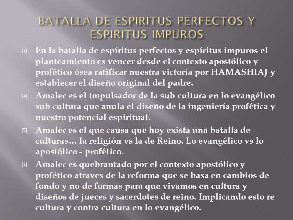 BATALLA DE ESPIRITUS PERFECTOS Y ESPIRITUS IMPUROS