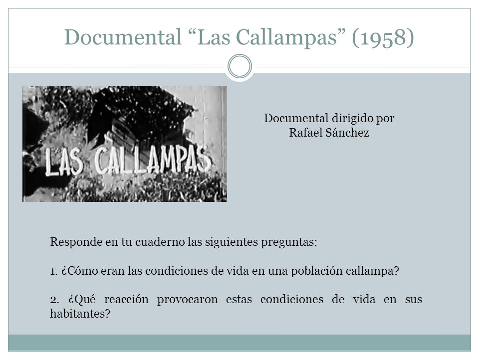 Documental Las Callampas (1958)