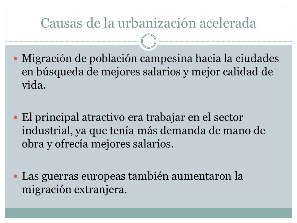 Causas de la urbanización acelerada