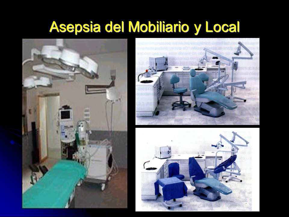 Asepsia del Mobiliario y Local