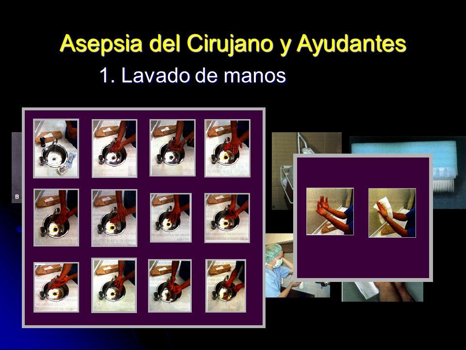 Asepsia del Cirujano y Ayudantes