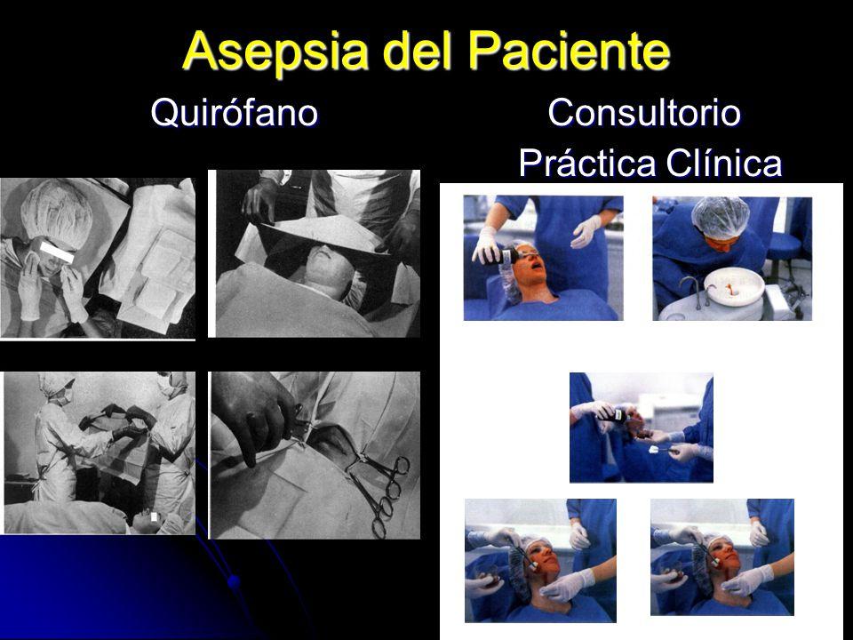 Asepsia del Paciente Quirófano Consultorio Práctica Clínica
