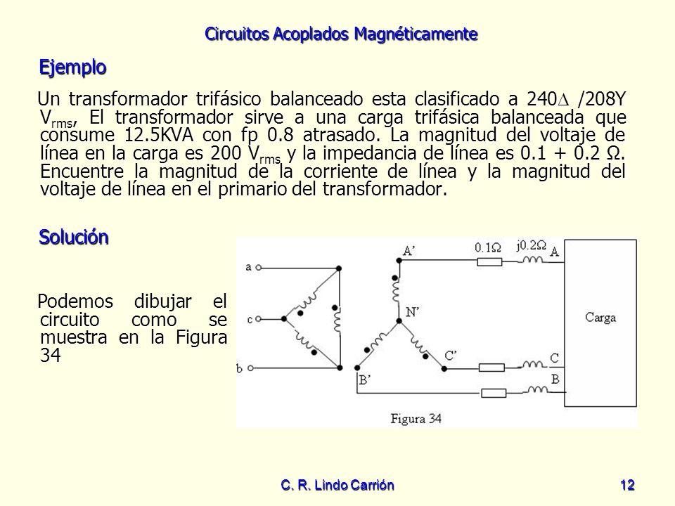 Podemos dibujar el circuito como se muestra en la Figura 34