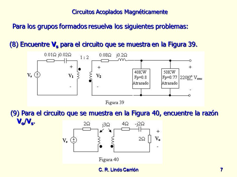 (8) Encuentre Vs para el circuito que se muestra en la Figura 39.