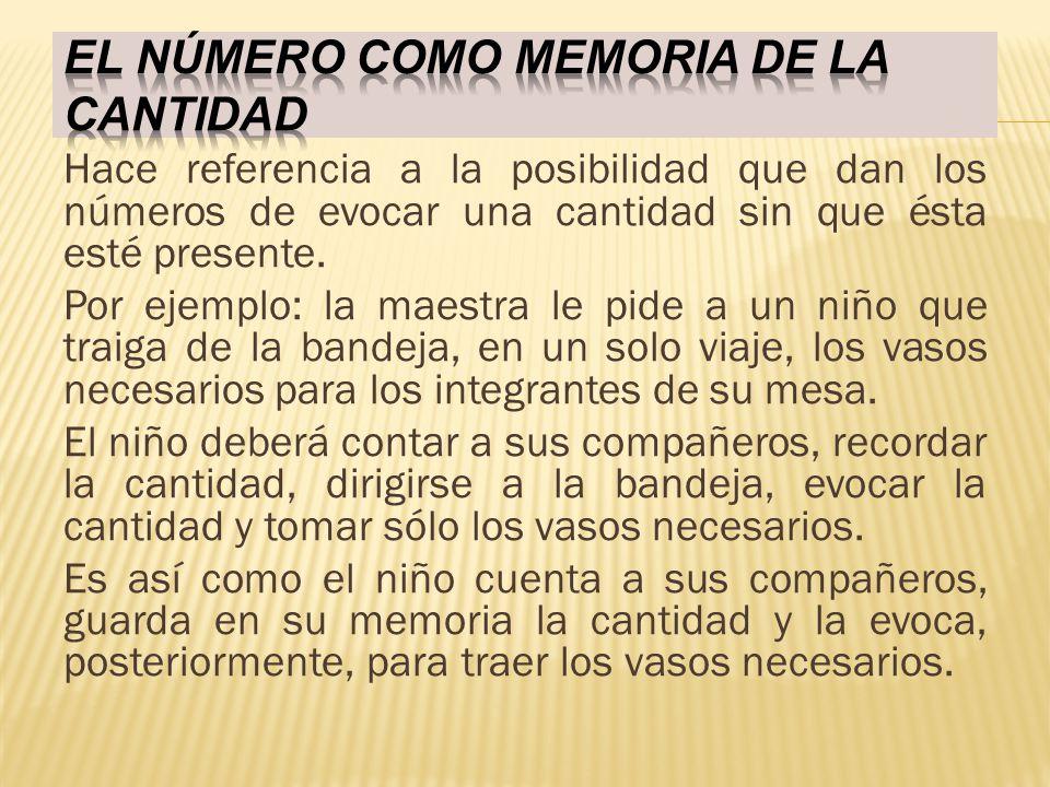 El número como memoria de la cantidad