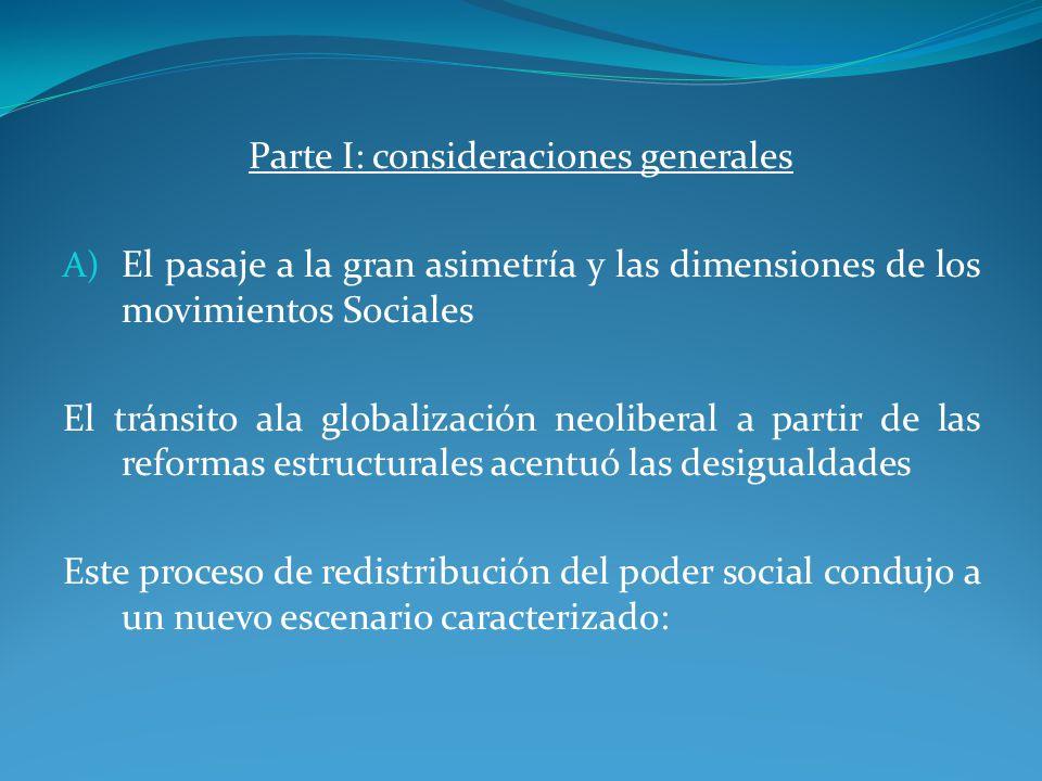 Parte I: consideraciones generales