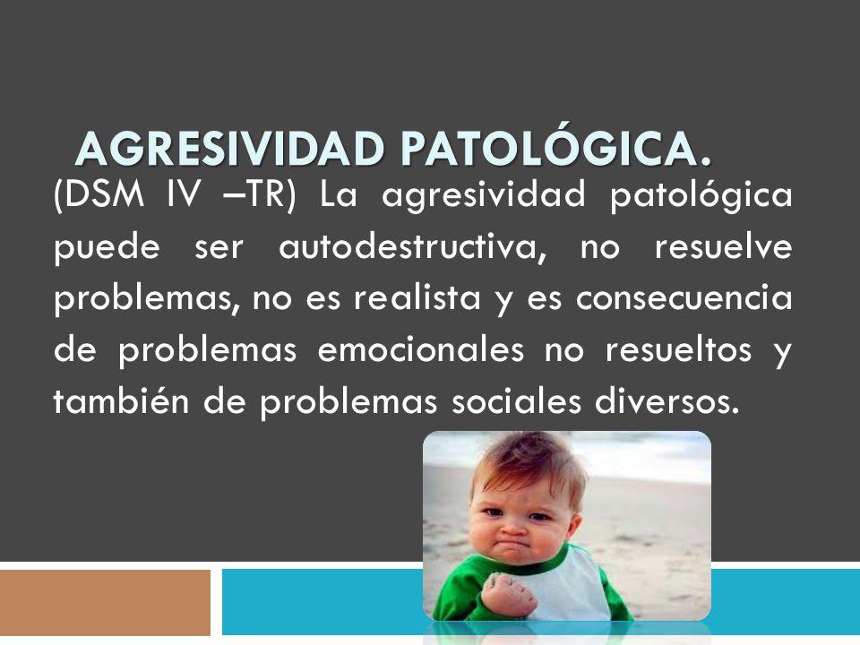 Agresividad Patológica.