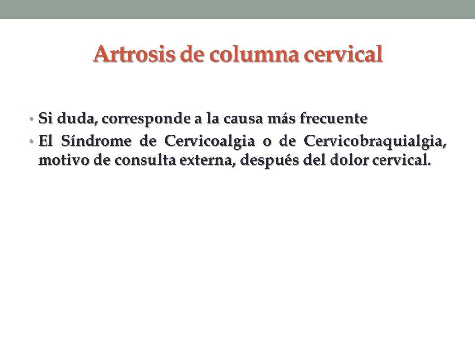 Artrosis de columna cervical