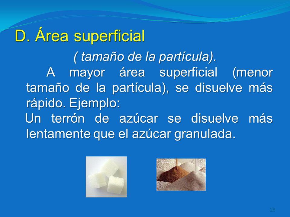 D. Área superficial