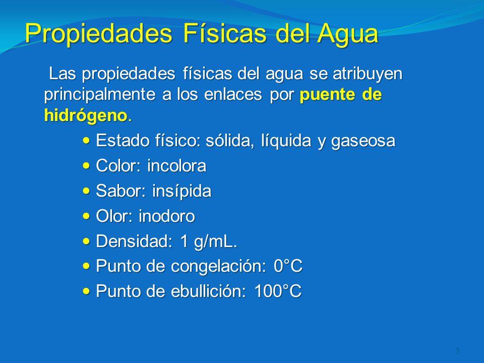 Propiedades Físicas del Agua