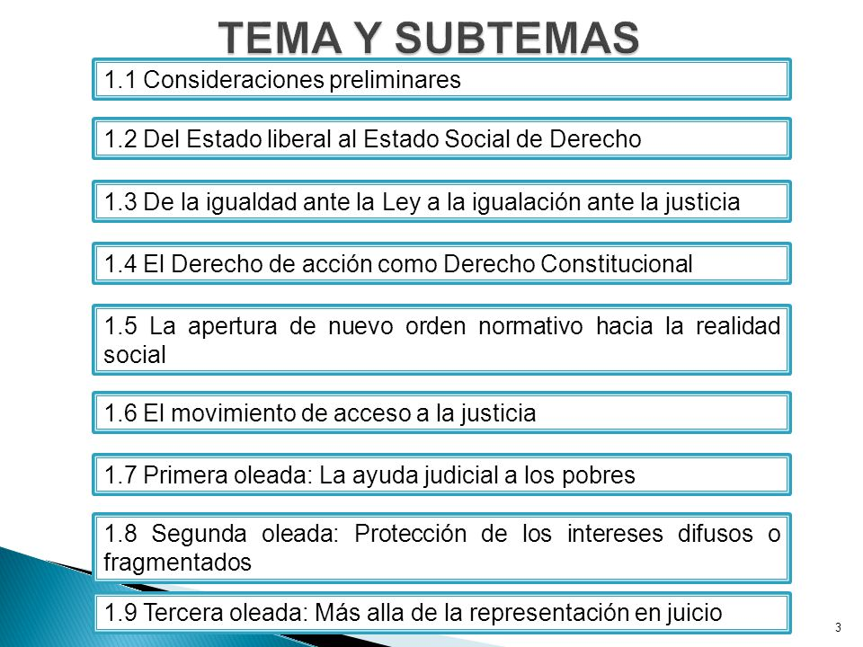 TEMA Y SUBTEMAS 1.1 Consideraciones preliminares