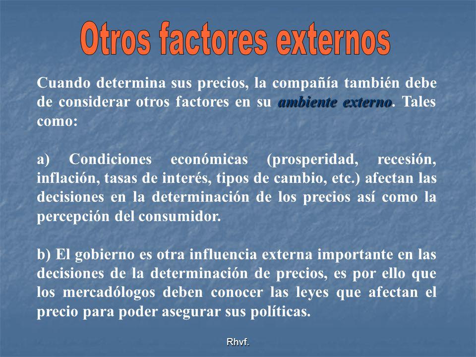Otros factores externos