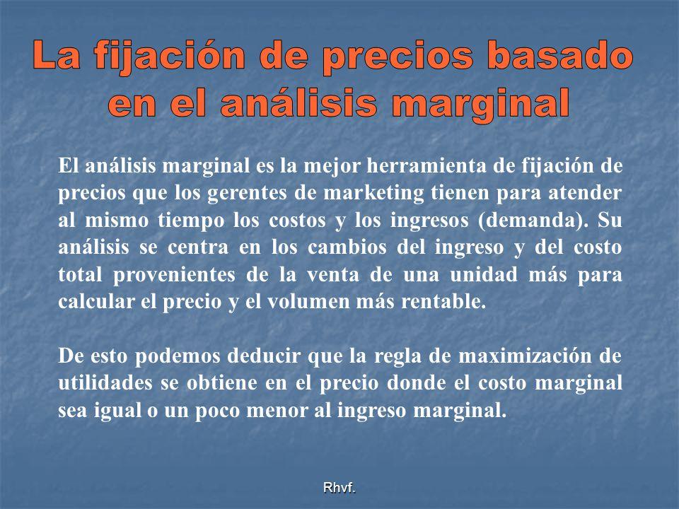 La fijación de precios basado en el análisis marginal