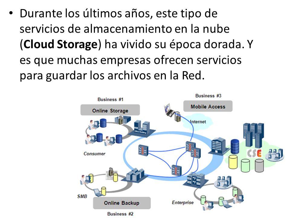 Durante los últimos años, este tipo de servicios de almacenamiento en la nube (Cloud Storage) ha vivido su época dorada.