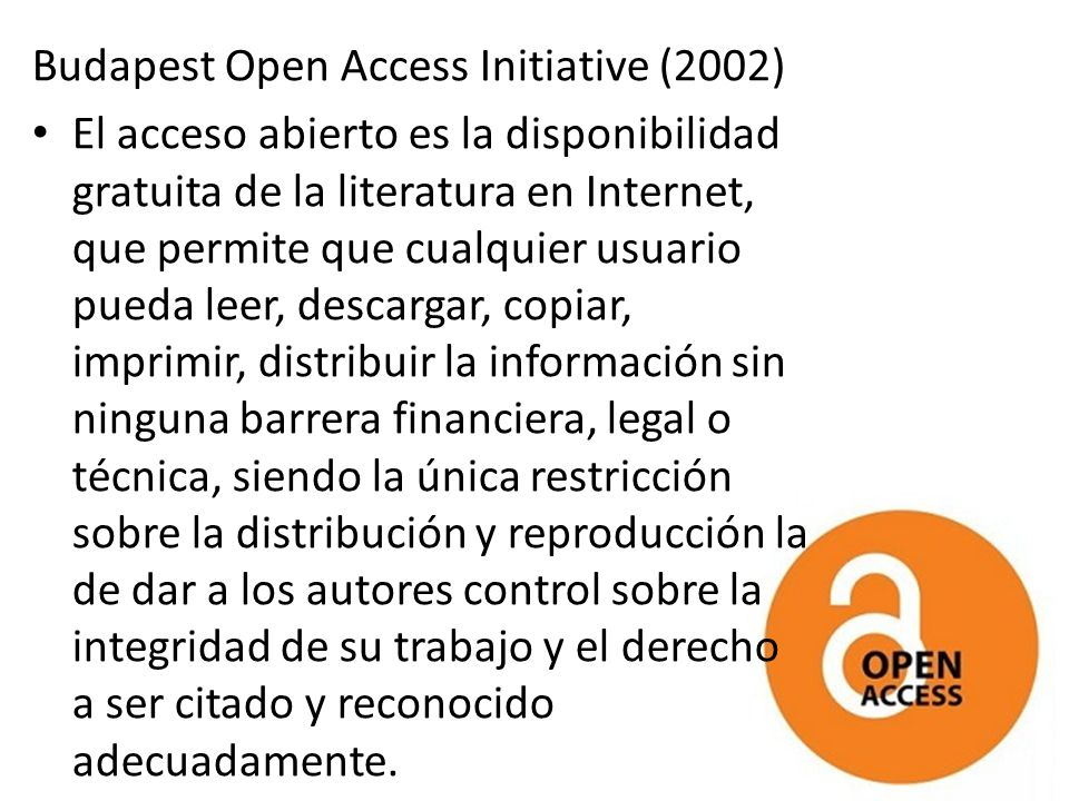 Budapest Open Access Initiative (2002)