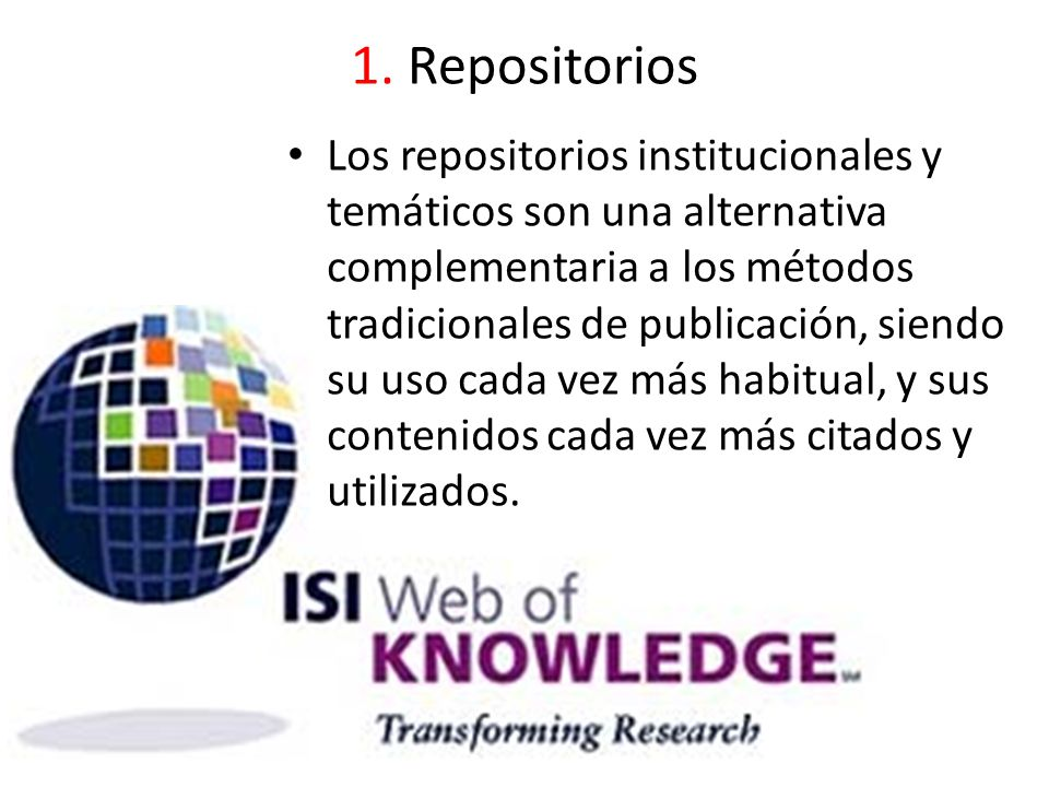 1. Repositorios