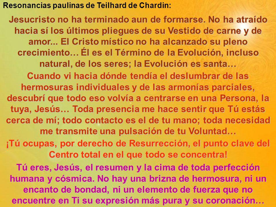 Resonancias paulinas de Teilhard de Chardin: