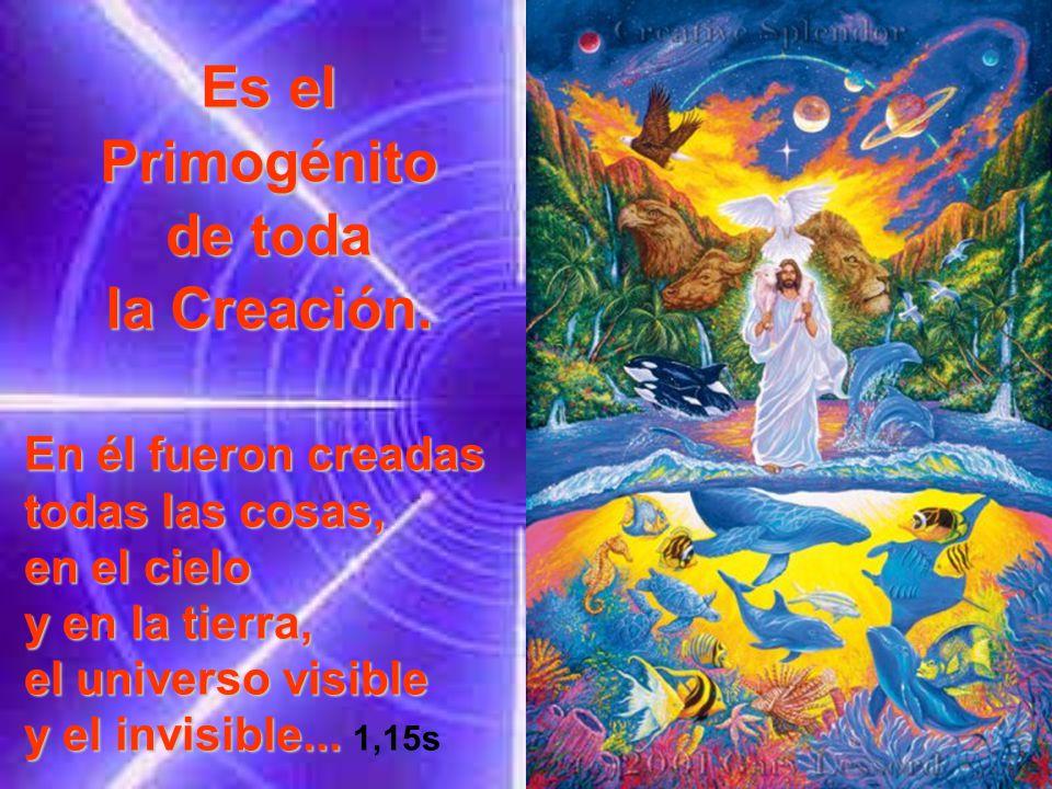 Es el Primogénito de toda la Creación.