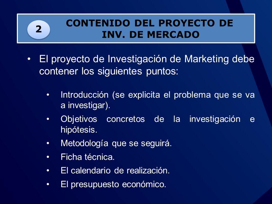 CONTENIDO DEL PROYECTO DE