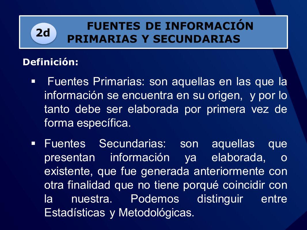 FUENTES DE INFORMACIÓN PRIMARIAS Y SECUNDARIAS